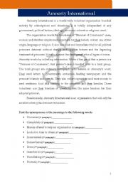 English Worksheets: Amnesty International