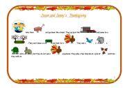 English worksheet: Jason and Jenny´s Thanksgiving (3/7)