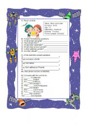 English Worksheets: Personal identification (they/their)