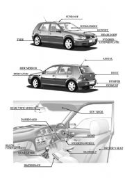 English Worksheet: Car parts 2