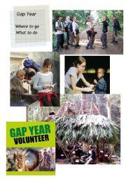 English Worksheet: Gap Year 1/2