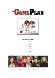 English Worksheets: The Game Plan Movie