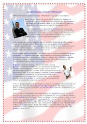English Worksheet: Obama Victory Speech in CHicago