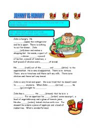 English Worksheets: JOHNNY IS HUNGRY
