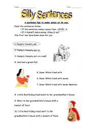 worksheet: Silly Sentences