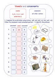 Printables Vowels And Consonants Worksheets english worksheet vowels and consonants