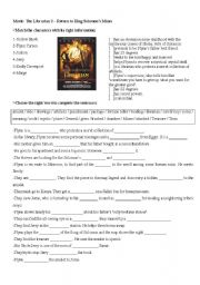 English Worksheets: Movie: The Librarian 2 - Return to King Solomon�s Mines