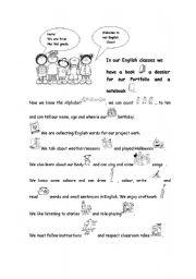 English Worksheets: English journal