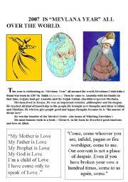 English Worksheets: mevlana