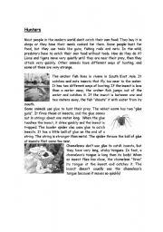 English Worksheets: Hunters