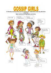 English worksheet: GOSSIP GIRLS