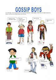 English Worksheet: GOSSIP BOYS