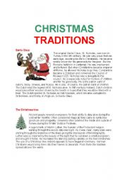 ESL Worksheets for adults: CHRISTMAS TRADITIONS
