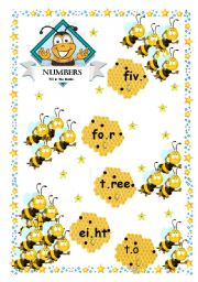 English Worksheet: Count the bees