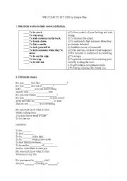 English Worksheet: Song - Welcome To My Life by Simple Plan