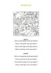 English Worksheets: THE MAGIC ZOO