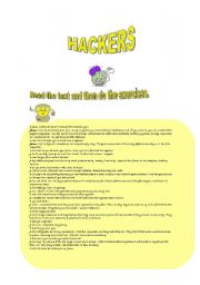 English Worksheets: HACKERS!!!