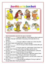 Snow White ESL Printable Worksheets and Exercises