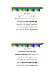 Roy G Biv Coloring Page | Click here to obtain a PDF file of the ...