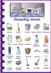 English Worksheet: Rooms in the house - Laundry room