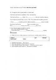 English Worksheet: Friends TV series: After Ross Says Rachel (5th term)