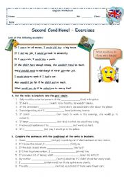 English Worksheet: Second Conditional - exercises