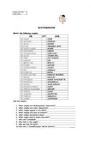 English Worksheets: MATCHMAKING