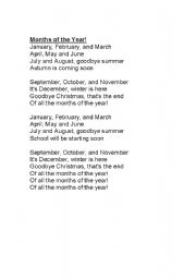 English worksheets: Months of the Year