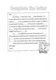 English Worksheets: letter