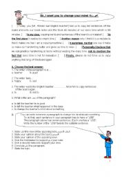 English Worksheet: Writing a Persuasive Paragraph
