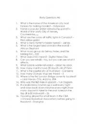 English Worksheets: Forty Questions 4