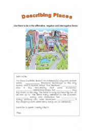 English Worksheet: Describing Places