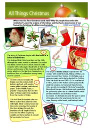 English Worksheet: ALL THINGS CHRISTMAS