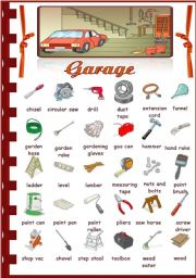 English Worksheet: Rooms in the house- Garage