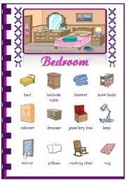 English Worksheet: Rooms In The House  Bedroom