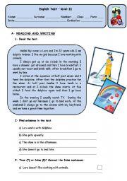 English Worksheets: LARA�S DAILY ROUTINE