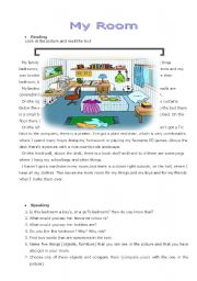 English Worksheet: Project: My Room