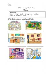 describe your house - ESL worksheet by mona saeed