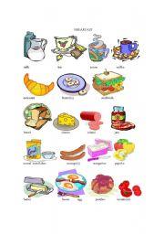 English Worksheet: Breakfast - Food