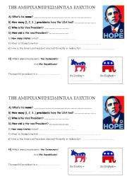 English Worksheets: American Election