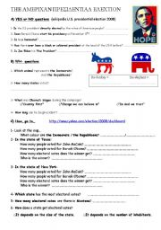 English Worksheet: American Election