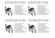 English Worksheets: wacky wednesday