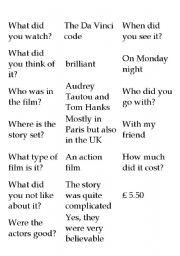 English worksheet: Conversation starter