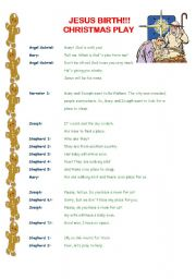 english worksheet christmas play 3 pages - Christmas Plays For Small Churches