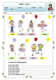 English Worksheet: HOW OLD ARE THEY
