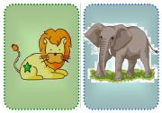 English Worksheets: Flashcards Wild Animals 2/2