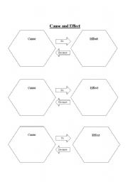 Bright image with cause and effect graphic organizer printable
