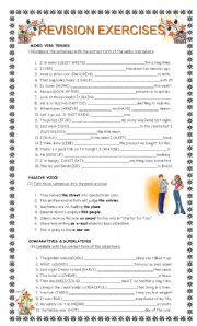 English Worksheet: GRAMMAR revision (intermediate)