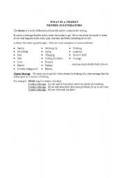 English Worksheets: What is a Theme?