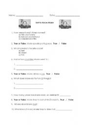 English Worksheets: Get to know your teacher, part one